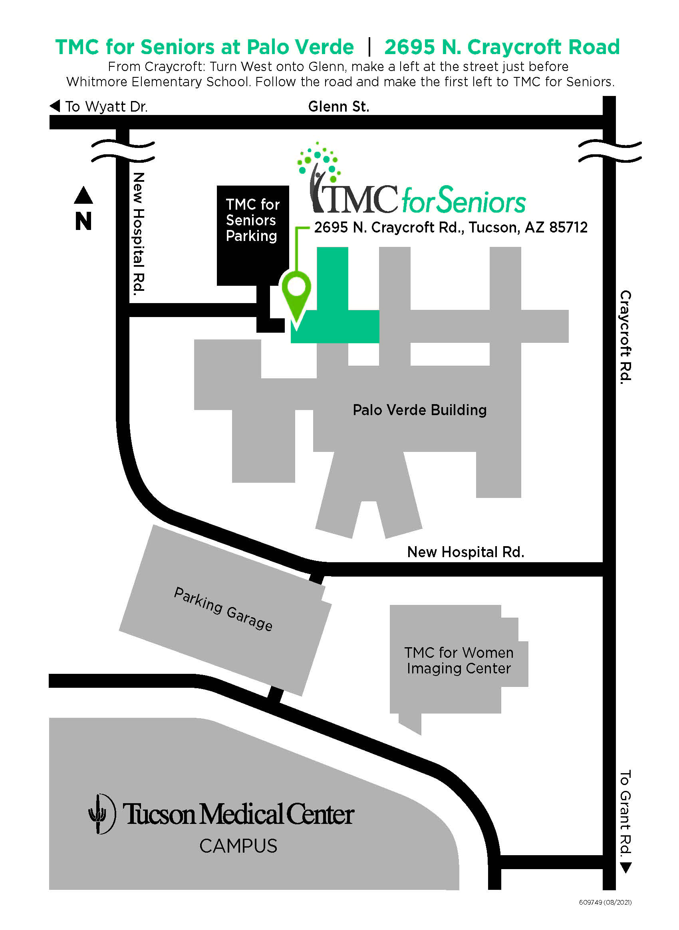 Maps And Directions Tucson Arizona Az Tucson Medical Center