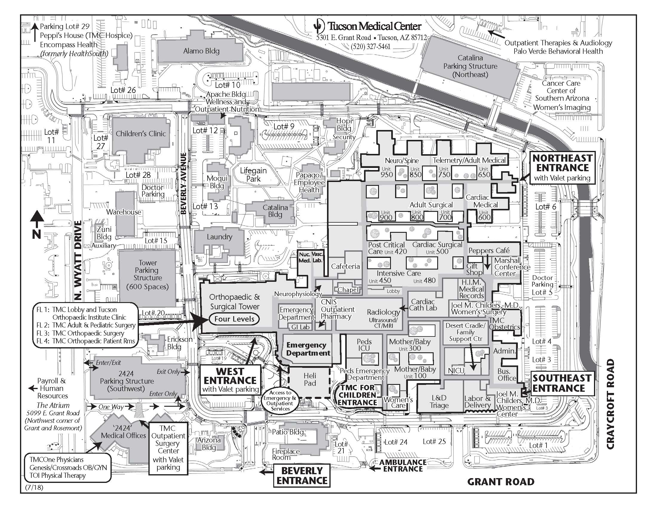 photograph about Printable Map of Tucson Az identified as Maps and Guidance Tucson, Arizona (AZ), Tucson Clinical Centre